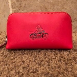 Coach x Disney Mickey Mouse Cosmetic Red Case